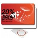 Tarjetas RFID 125kHz EM impresas 1 cara