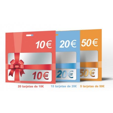 PACK TARJETA REGALO (40 tarjetas)