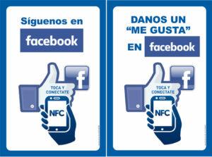 Más seguidores y Me gusta en Facebook con los Smart Wifi Posters de Akrocard con NFC sólo acercado el móvil
