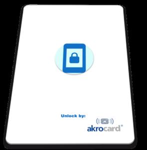Akrocard ha creado la nueva smartcard NFC Unlock, que le permite desbloquear su dispositivo móvil sin necesidad de introducir el número PIN.