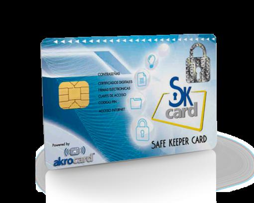 tarjeta almacen de contraseñas y certificado digital SafeKeeper Card