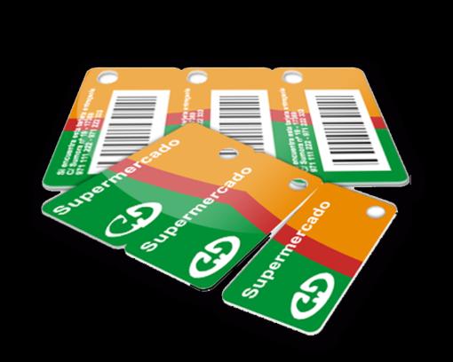 tarjeta-llavero, tarjeta cliente de supermercados y grandes superfícies