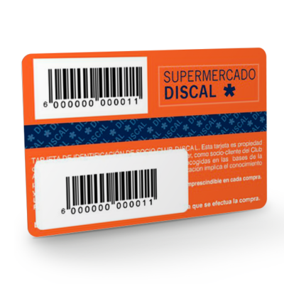 tarjeta pvc codigo de barras, tarjeta personalizada con codigos de barras