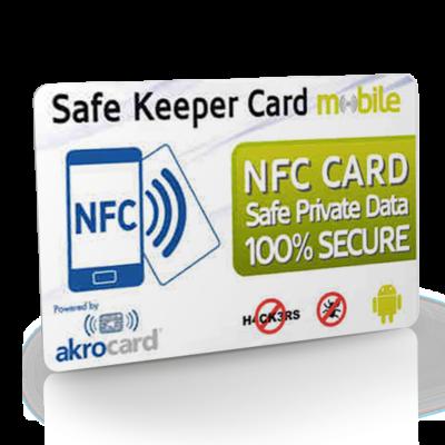 Safe Keeper Card para mobile, tarjetas NFC almacén de contraseñas