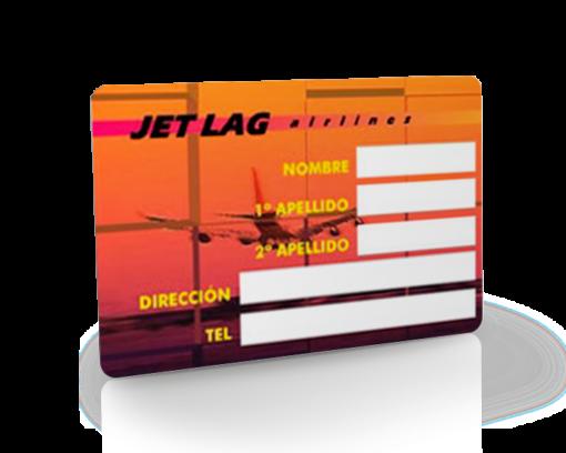 tarjeta de pvc personalizada con panel de firma