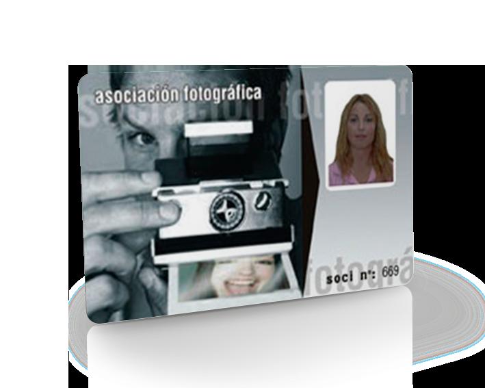 Tarjeta con fotografía digital