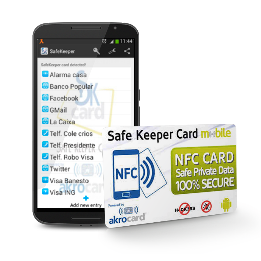 tarjeta NFC - Safe Keeper Card