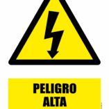 Cartel de aviso ALTA TENSIÓN