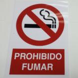 cartel de prohibido fumar en pvc