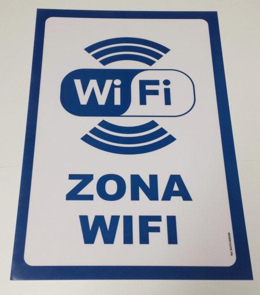 Cartel de Zona Wifi
