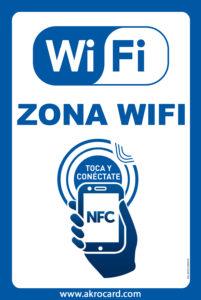 Wifi exclusivo para clientes sólo acercando el móvil al Smart Wifi Poster de Akrocard.