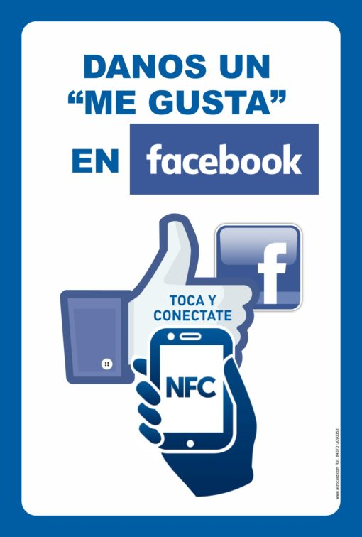 Cartel NFC ME GUSTA EN FACEBOOK SMART POSTER NFC