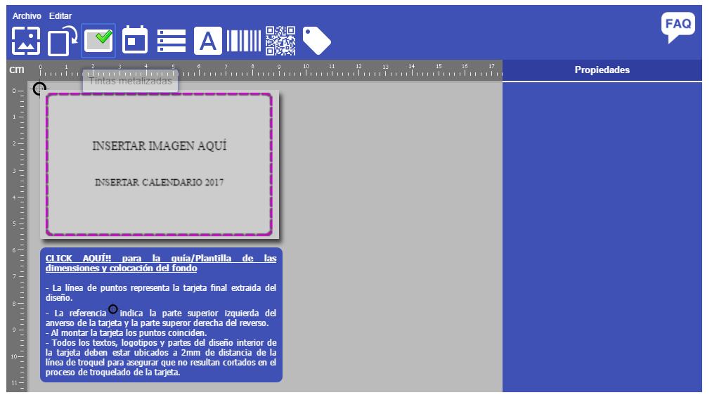 tintas metalizadas en DiyCard® para tus tarjetas plásticas on-line!