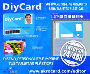 software profesional para tarjetas plásticas on-line, grauito: DiyCard®