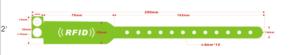Pulseras RFID de pvcx personalizables con logo/texto