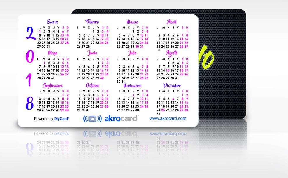 Tarjeta PVC Calendario