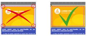 imagen fondo tarjeta impresa pvc sangrado