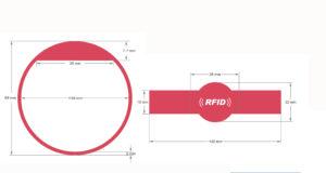 Pulseras personalizables de silicona con chip RFID NFC