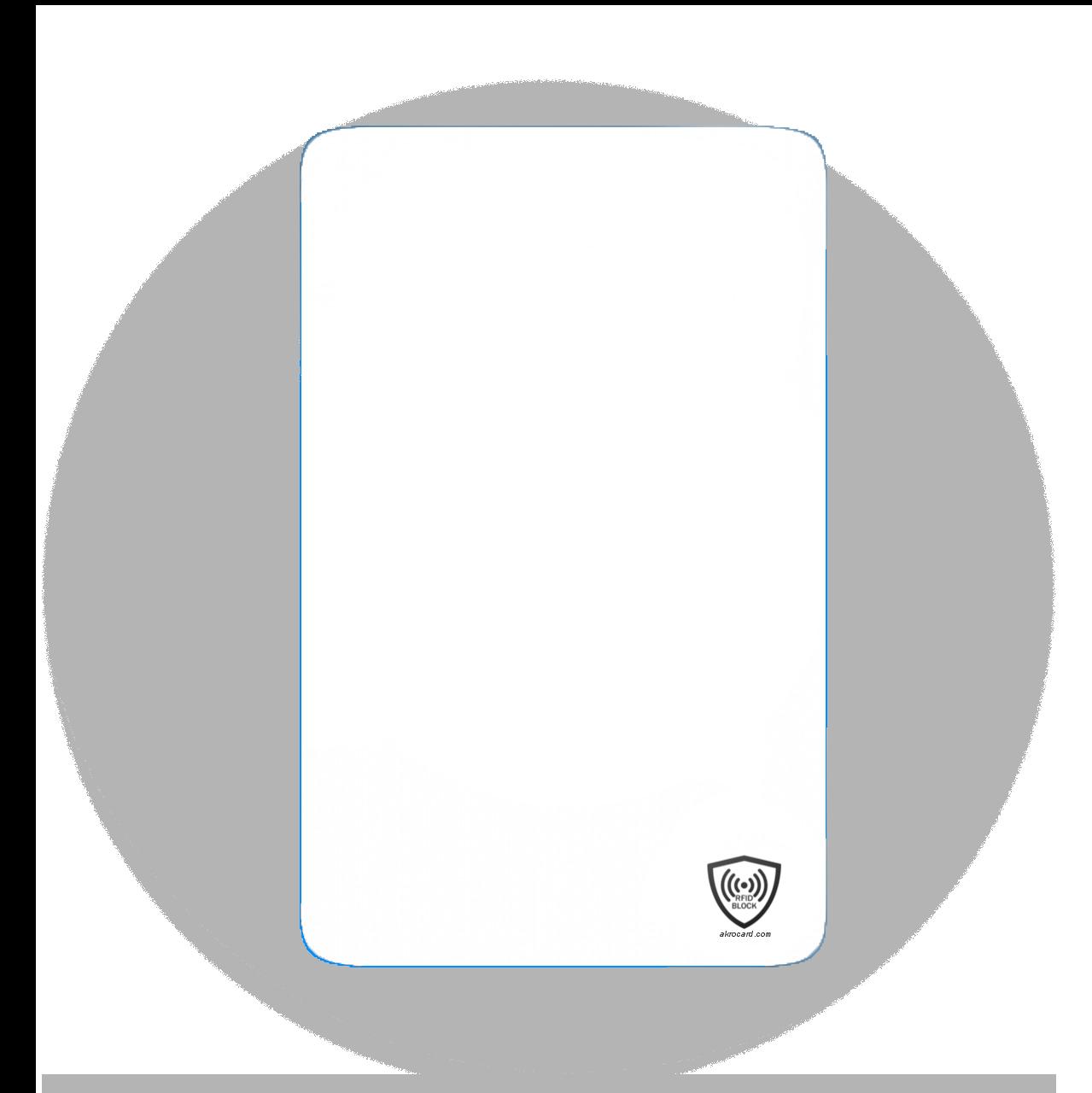 Diseño de la Tarjeta Bloqueo RFID by Akrocard®