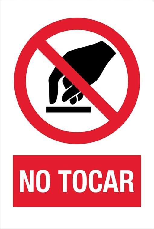 cartel aviso covid19: no tocar