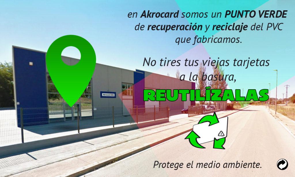 akrocard punto verde de recuperación y reciclaje del PVC